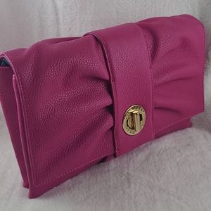 Cole Haan grand series bow clutch-veryberry